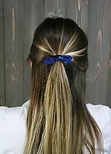 Ozdoby do vlasov - modrotlačová gumička lístočky mini 1 - 11868183_