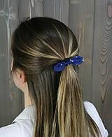 Ozdoby do vlasov - modrotlačová gumička lístočky mini 1 - 11868185_