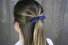 Ozdoby do vlasov - modrotlačová gumička lístočky mini 1 - 11868186_