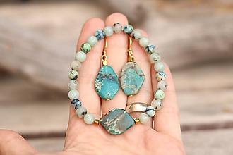 Sady šperkov - Súprava náušnice + náramok - 11868057_