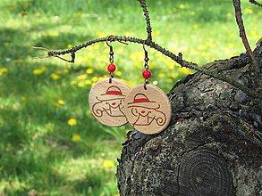 Náušnice - Drevené náušnice XVI - 11869459_