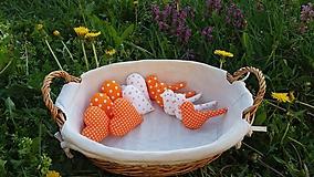 Srdiečka a vtáčiky (Oranžové)