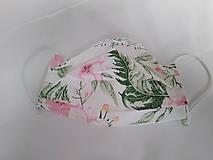 Rúška - Rúško ružová záhrada jednovrstvové/dvojvrstvové (Jednovrstvové) - 11874566_