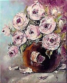 Obrazy - Ruže v hnedej váze 2 - 11874290_