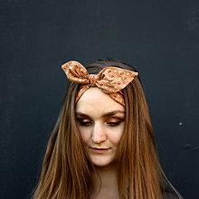 Ozdoby do vlasov - Šatka do vlasov Karamel recyklovaná - 11876919_
