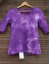 RecyVec_ tričko_violet_batika