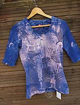 Tričko_ReCyVec_T-shirt_batik_blue