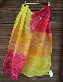 Šatky - silk scarf_hodvábna šatka_abstraction_90x90cm - 11873935_