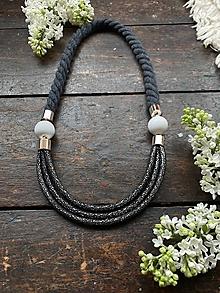 Náhrdelníky - Tajemný černý náhrdelník - 11878261_