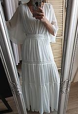 Šaty - Šaty v boho štýle v páse na gumičku - 11873590_