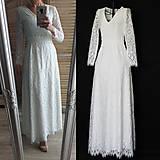Šaty - Svadobné šaty Áčkového strihu z krajky SKLADOM 36 - 11873899_