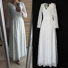 Šaty - Svadobné šaty Áčkového strihu z krajky - 11873899_