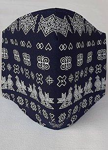 """Rúška - Rúško pánske """"modré Čičmany"""" - 11872618_"""