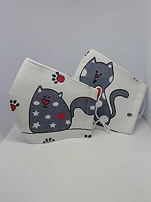 """Rúška - Bavlnené rúška pre deti """"mačky""""  (Hviezdičky) - 11872902_"""
