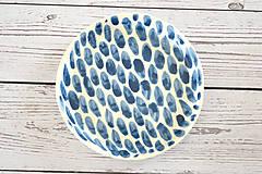 Nádoby - Tanier Len tak modrý - 11875487_