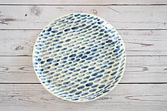 Nádoby - Tanier Len tak modrý - 11875489_