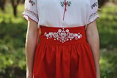 Sukne - červená sukňa - 11876665_