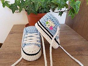 Topánočky - Modré tenisky s macíkmi - 11881847_