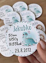 Magnetky na pamiatku s údajmi o narodení dinko
