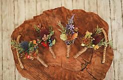 Doplnky - Pierka pre ženícha - lúčna kolekcia - 11881967_