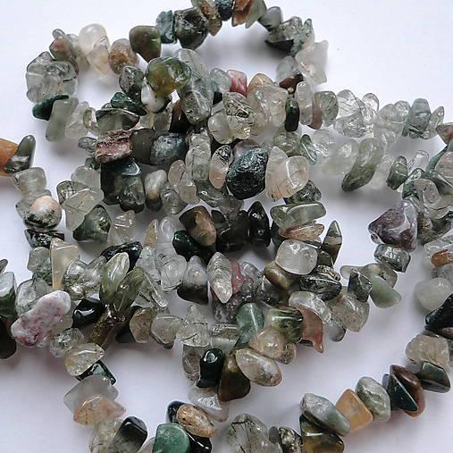 Minerály-zlomky-návlek (MIX-cca 90cm)