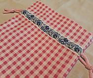 Úžitkový textil - Ružové vrecko - 11881522_
