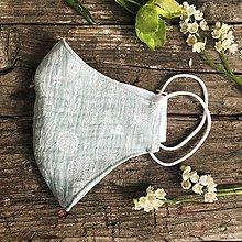 Rúška - *NOVÝ EŠTE LEPŠÍ STRIH dvojvrstvové mušelínové rúško 100 % bavlna, Mentolové kvetinky (L) - 11880590_