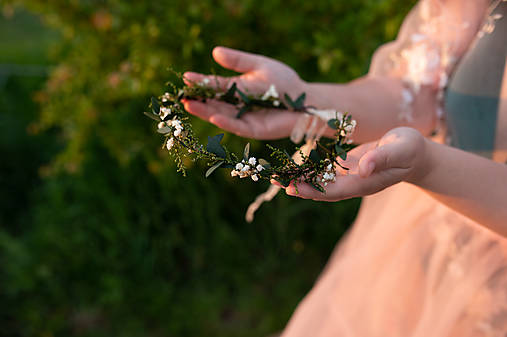 """Jemný prírodný venček """"dotyk rána"""""""