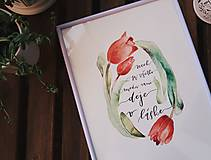 Obrazy - NECH SA VŠETKO MEDZI VAMI DEJE V LÁSKE - art print - 11882118_