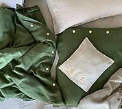 Úžitkový textil - Ľanové posteľné obliečky - 11880939_