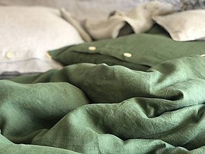 Úžitkový textil - Ľanové posteľné obliečky - 11880904_