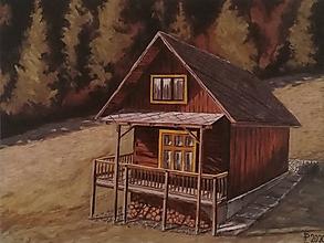 Obrazy - Obraz - Chalúpka na okraji lesa - 11886308_