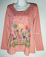 Tričká - Tričko -Kvety -organická bavlna -maľované - 11886594_