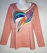 Tričká - Tričko z organickej bavlny -Transformácia -maľované - 11886646_