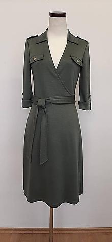 Šaty - Zavinovacie šaty zelené - 11885596_