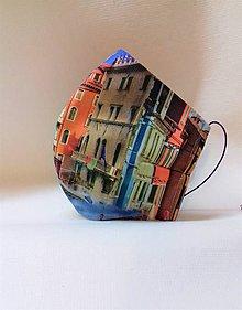 Rúška - Dizajnové bavlnené rúška podšívané jemnučkým ľanom, tvarované, rôzne vzory (Street - veľké budovy) - 11884870_