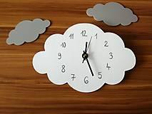 Detské doplnky - Funkčné dizajnové hodiny – obláčik - 11887415_