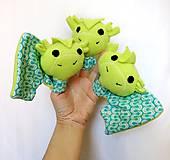 Hračky - Sada maňušiek na prst - Trojhlavý drak, princezná, princ - 11884843_