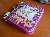 Hračky - Interaktívna šitá kniha - čísla 1-10 - 11883362_