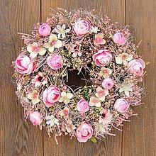 Dekorácie - Ružový veniec II - 11886415_
