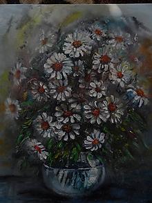 Obrazy - Poľné kvieťa, margarétky - 11884051_