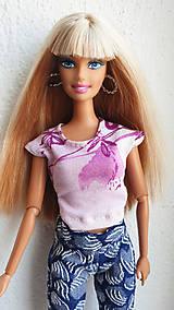 Hračky - Farebné tričko pre Barbie - 11885604_