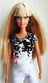 Hračky - Farebné tričko pre Barbie - 11885610_