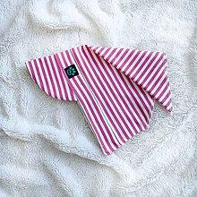 Detské čiapky - Letná šatka so šiltom ružové pásiky z BIO bavlny - 11882247_