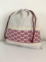 Úžitkový textil - Darčekový set produktov- srdiečková edícia (set č.1- vrecko + čiapka) - 11885009_
