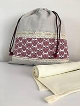 Úžitkový textil - Darčekový set produktov- srdiečková edícia (set č.2- vrecko + utierka) - 11885013_