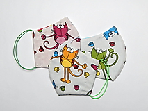 Textilné rúško na tvár dvojvrstvové pre deti - šírka cca 10 cm