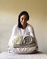 Úžitkový textil - Ľanová plachta na manželskú posteľ - 11886680_