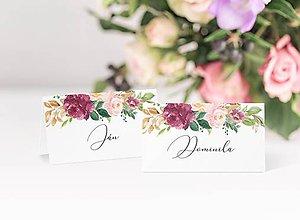 Papiernictvo - Svadobné menovky Emily - 11888757_
