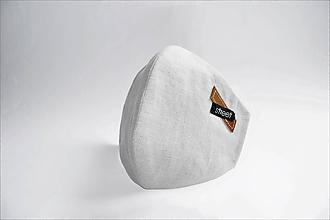 Rúška - Pánske ľanové ochranné rúško - 11889918_